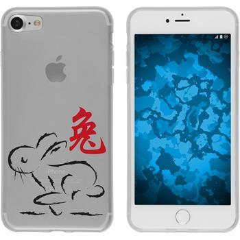 Apple iPhone 7 Silikon-Hülle Tierkreis Chinesisch Motiv 4
