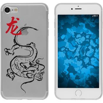 Apple iPhone 7 Silikon-Hülle Tierkreis Chinesisch Motiv 5