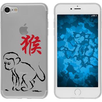Apple iPhone 7 Silikon-Hülle Tierkreis Chinesisch Motiv 9