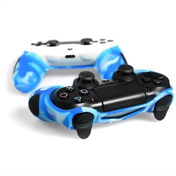 PhoneNatic Controller-Hülle Blau-Camouflage für das PlayStation 4 Gamepad