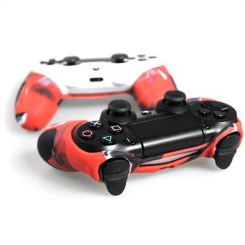 PhoneNatic Controller-Hülle Rot-Camouflage für das PlayStation 4 Gamepad