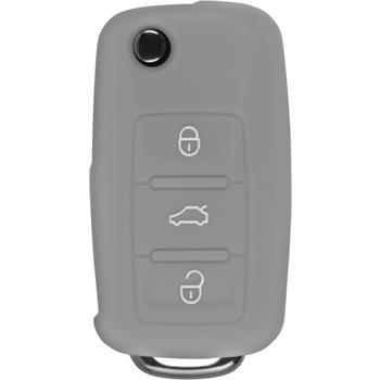Silikon Schlüssel Hülle  VW 3-Tasten Fernbedienung grau Klappschlüssel