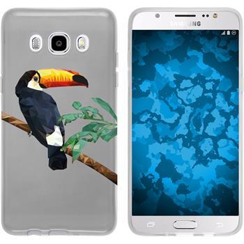 PhoneNatic Samsung Galaxy J5 (2016) J510 Silicone Case vector animals design 5 Case Galaxy J5 (2016) J510 + protective foils