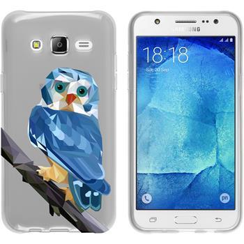 PhoneNatic Samsung Galaxy J5 (J500) Silicone Case vector animals design 1 Case Galaxy J5 (J500) + protective foils
