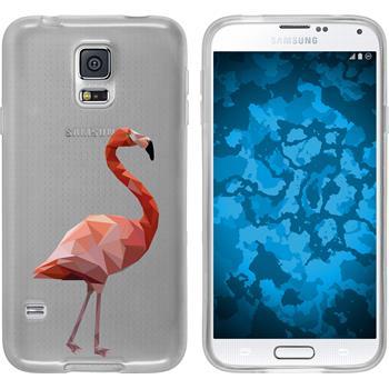 Samsung Galaxy S5 Neo Silikon-Hülle Vektor Tiere Motiv 2