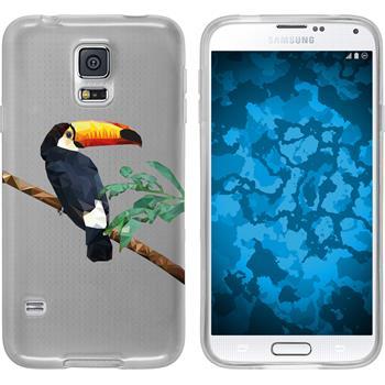 Samsung Galaxy S5 Neo Silikon-Hülle Vektor Tiere Motiv 5