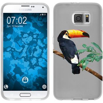 Samsung Galaxy S6 Silikon-Hülle Vektor Tiere Motiv 5