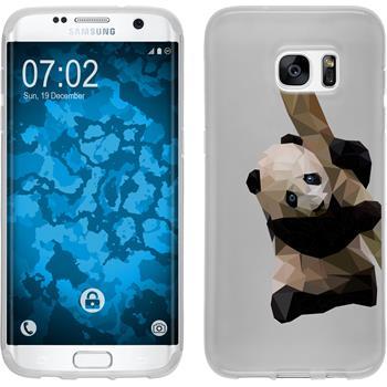PhoneNatic Samsung Galaxy S7 Edge Silicone Case vector animals design 4 Case Galaxy S7 Edge + protective foils