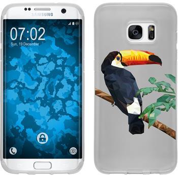 Samsung Galaxy S7 Edge Silikon-Hülle Vektor Tiere Motiv 5
