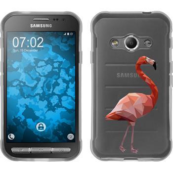 PhoneNatic Samsung Galaxy Xcover 3 Silicone Case vector animals design 2 Case Galaxy Xcover 3 + protective foils