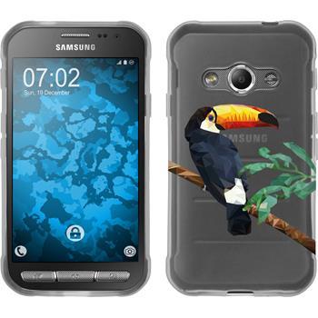 Samsung Galaxy Xcover 3 Silikon-Hülle Vektor Tiere Motiv 5