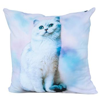cosey cushion cover 45x45, cushion cover with motif for decorative cushion, sofa cushion - different motifs Polyester D7 Cat