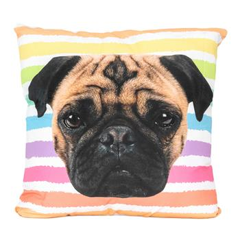cosey cushion cover 45x45, cushion cover with motif for decorative cushion, sofa cushion - different motifs Polyester D13 Pug