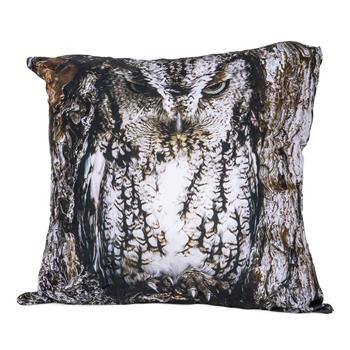 cosey cushion cover 45x45, cushion cover with motif for decorative cushion, sofa cushion - different motifs Polyester D15 Owl