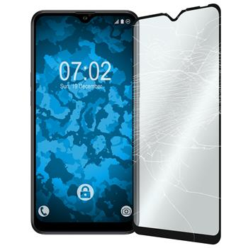 2 x Galaxy A10s Protection Film Tempered Glass clear full screen black