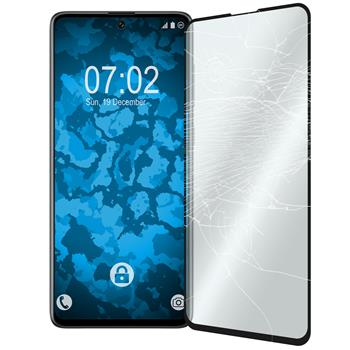 1 x Galaxy A71 Protection Film Tempered Glass clear full screen black
