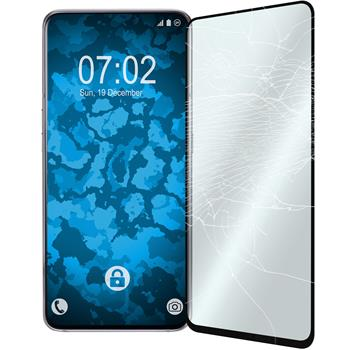 2 x Galaxy A80 Protection Film Tempered Glass clear full screen black