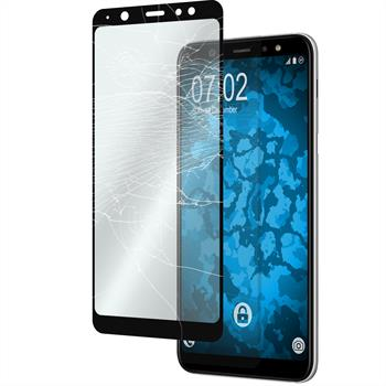 2x Galaxy A6 Plus (2018) klar full screen Glasfolie schwarz