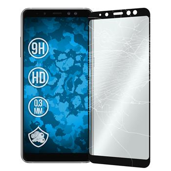 1 x Galaxy A8 (2018) EU Version Protection Film Tempered Glass clear full screen black