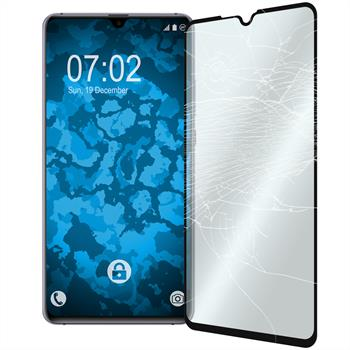 2 x Mate 20 X Protection Film Tempered Glass clear full screen black