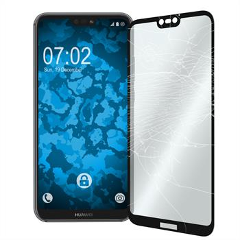 2x P20 Lite klar full screen Glasfolie schwarz