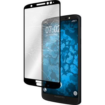 1x Moto G6 klar full screen Glasfolie schwarz