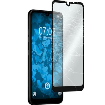 1 x Q60 Protection Film Tempered Glass clear full screen black