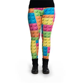 cosey - Printed colorful leggings (one size ) - Design clamping components