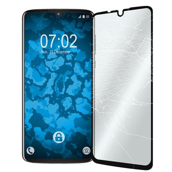 2 x Moto Z4 Protection Film Tempered Glass clear full screen black