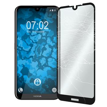 1 x Nokia 2.2 Protection Film Tempered Glass clear full screen black