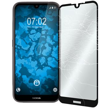 2 x Nokia 4.2 Protection Film Tempered Glass clear full screen black