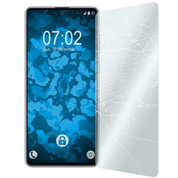 2 x Galaxy Note 10 Lite Protection Film Tempered Glass clear