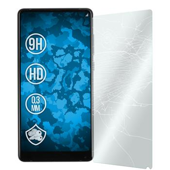 2 x Mi Mix 2 Protection Film Tempered Glass clear