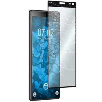 1 x Xperia 10 Protection Film Tempered Glass clear full screen black
