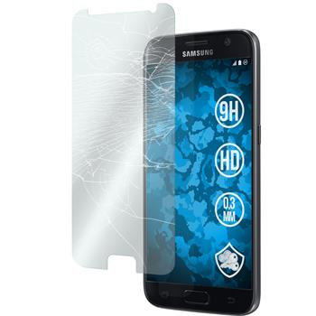 2 x Samsung Galaxy S7 Protection Film Tempered Glass clear