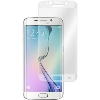 1x Galaxy S6 Edge klar Glasfolie silber