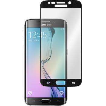1x Galaxy S6 Edge klar Glasfolie schwarz