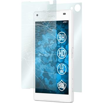 2x Xperia Z5 Compact klar Fullbody Glasfolie