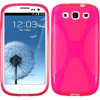 Silicone Case for Samsung Galaxy S3 X-Style hot pink