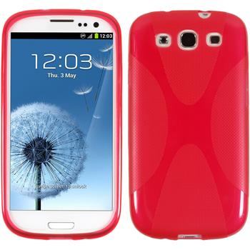 Silicone Case for Samsung Galaxy S3 X-Style red
