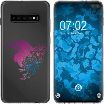 Samsung Galaxy S10 Plus Silicone Case floral M4-6