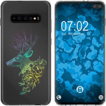 Samsung Galaxy S10 Plus Silicone Case floral M7-4