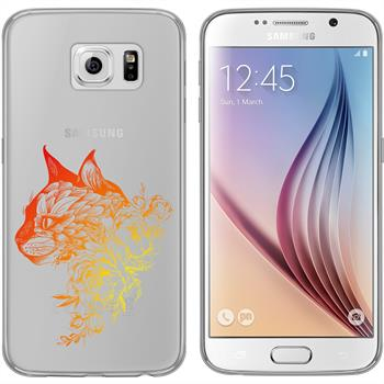 Samsung Galaxy S6 Silikon-Hülle Floral  M2-2