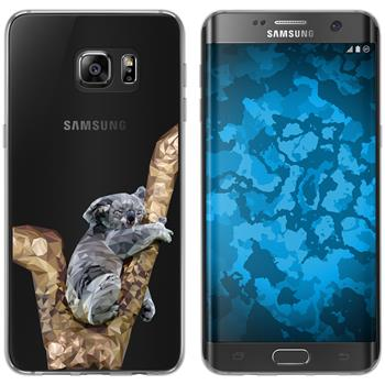 Samsung Galaxy S7 Edge Silicone Case vector animals M9