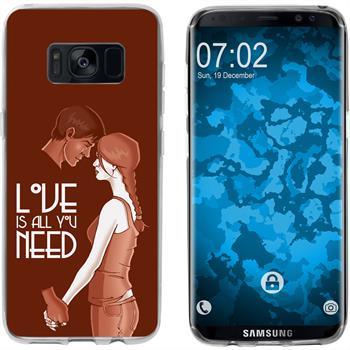 Samsung Galaxy S8 Silicone Case in Love M3