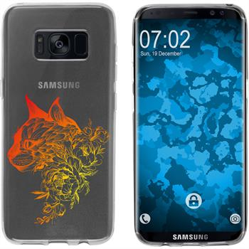 Samsung Galaxy S8 Silikon-Hülle Floral  M2-2