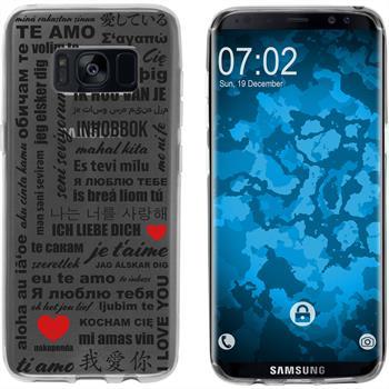 Samsung Galaxy S8 Plus Silicone Case in Love M4