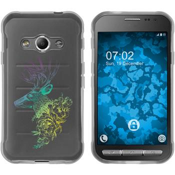 Samsung Galaxy Xcover 3 Silicone Case floral M7-4