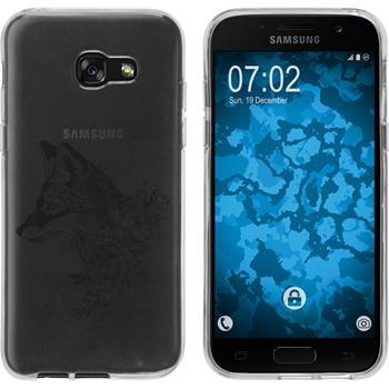 Samsung Galaxy A3 2017 Silikon-Hülle Floral  M1-1