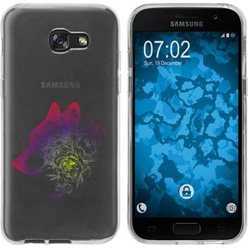 Samsung Galaxy A7 (2017) Silicone Case floral M3-5